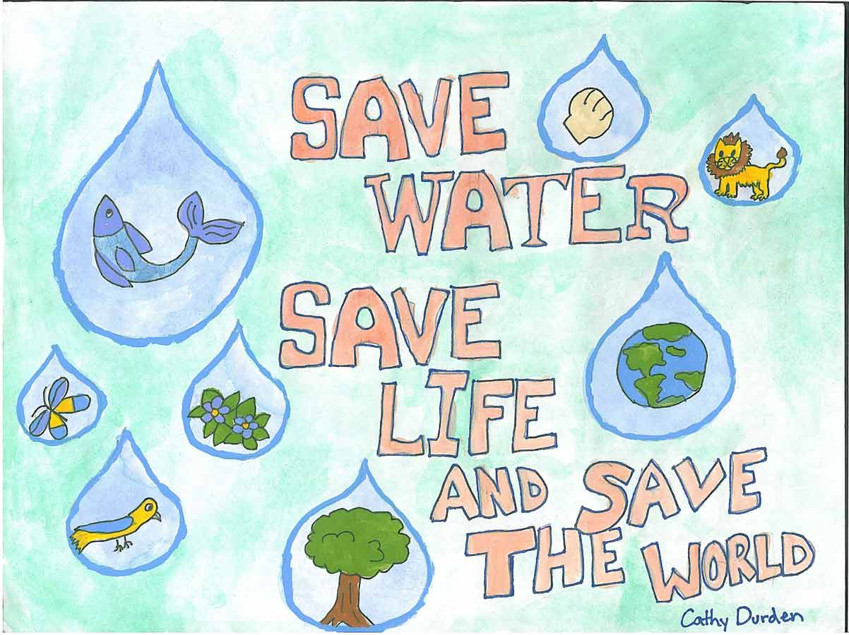 Poster design on save earth - Essay On Save Water For Children And Students Water Conservation Wbdg Whole Building Design Guide